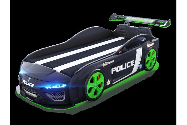 Кровать машина Berton Police Black