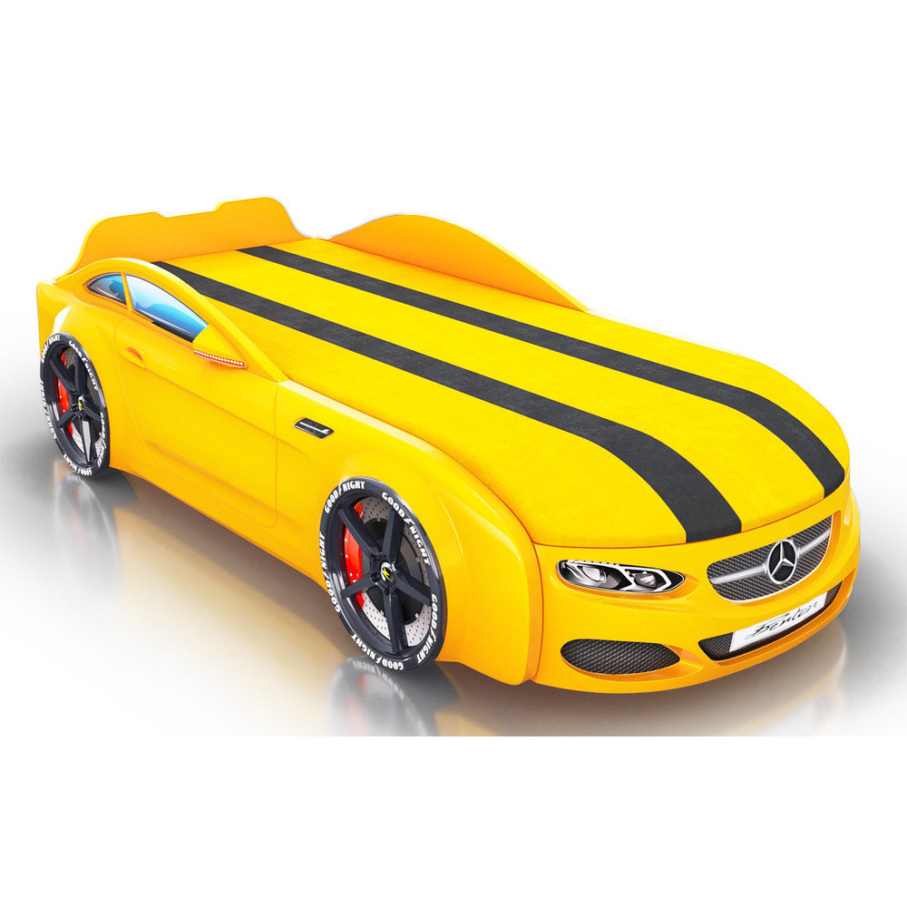 Кровать-машинка Royal Berton big мультибренд Желтая