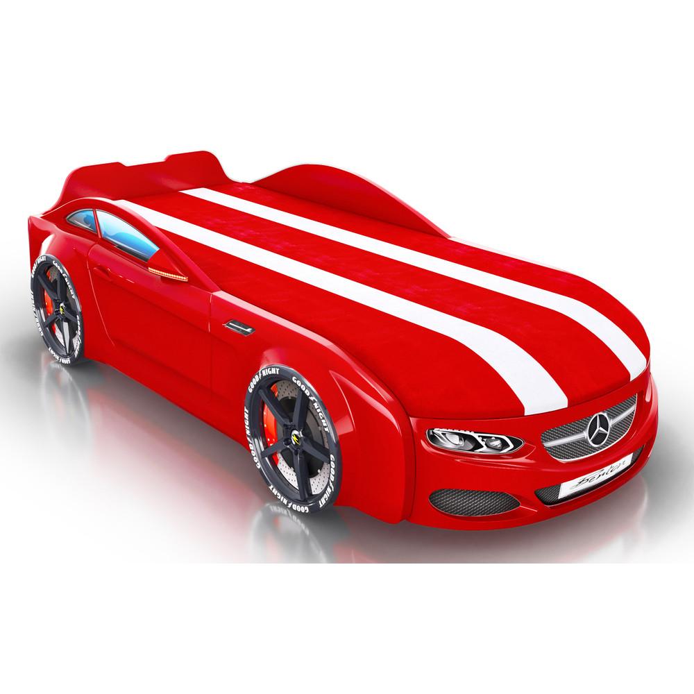 Кровать-машинка Royal Berton big мультибренд Красная