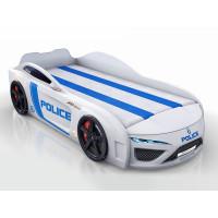 Кровать-машина Berton Police Белая