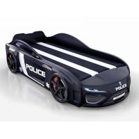 Кровать-машина Berton Police Черная