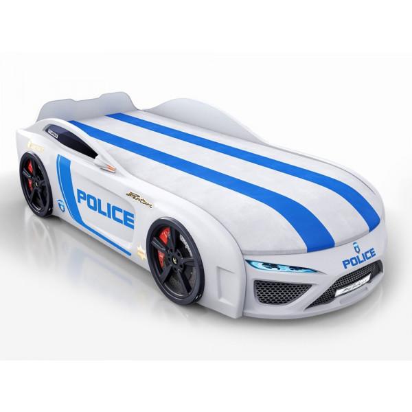 Кровать-машина Royal Berton big Police Белая