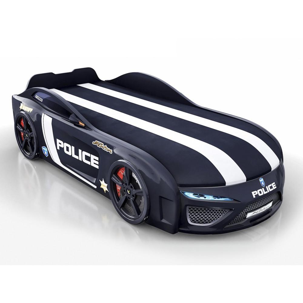 Кровать-машина Royal Berton big Police Черная