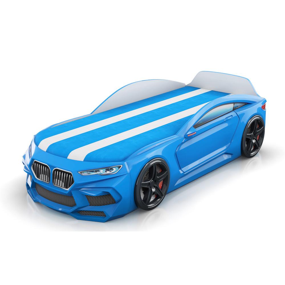 Кровать-машинка Romack Romeo-M 3D Голубая