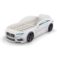 Кровать-машинка Romack Romeo 3D Белая