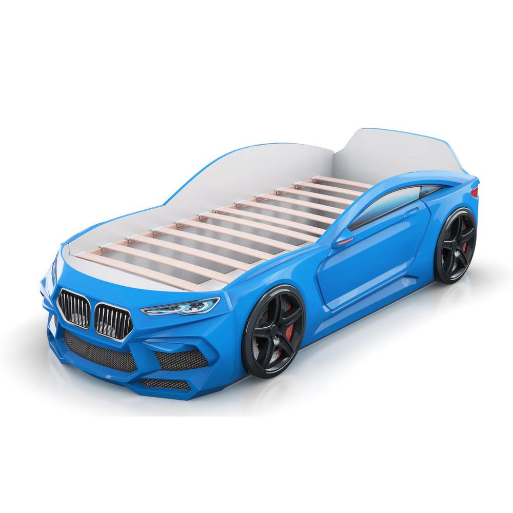 Кровать-машинка Romack Romeo 3D Голубая