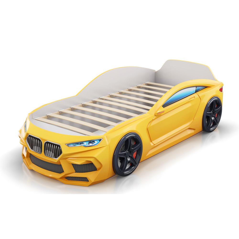 Кровать-машинка Romack Romeo 3D Желтая